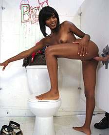 Ebony Karma May In The GloryHole